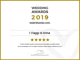 I Viaggi di Anna, vincitore Wedding Awards 2019 matrimonio.com
